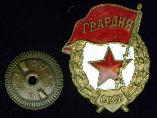 Click image for larger version.  Name:Guard's Badge obverse.jpg Views:129 Size:83.8 KB ID:28308