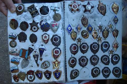 Soviet badges from flea market.