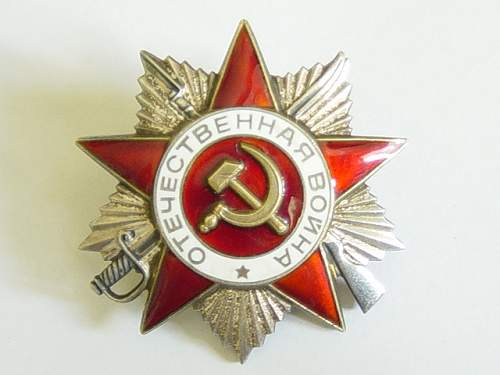 Click image for larger version.  Name:Order of the Great Patriotic War, 2nd class, 1985 issue. 001.jpg Views:412 Size:143.9 KB ID:3058