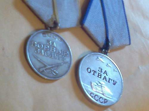 Two Soviet WWII Medals for Review. Military Merit & Valor.