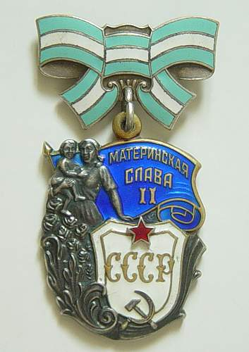 Click image for larger version.  Name:Order of Maternal Glory 2nd class.jpg Views:148 Size:113.5 KB ID:34431