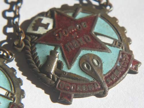 PVKHO Chemical & Anti Aircraft Badge