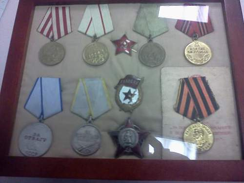 My small Soviet WWII collection. Together at last!