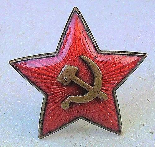 1936 two piece Cap Badge