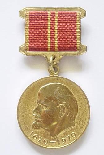 Click image for larger version.  Name:Lenin medal 001.jpg Views:792 Size:103.8 KB ID:39123