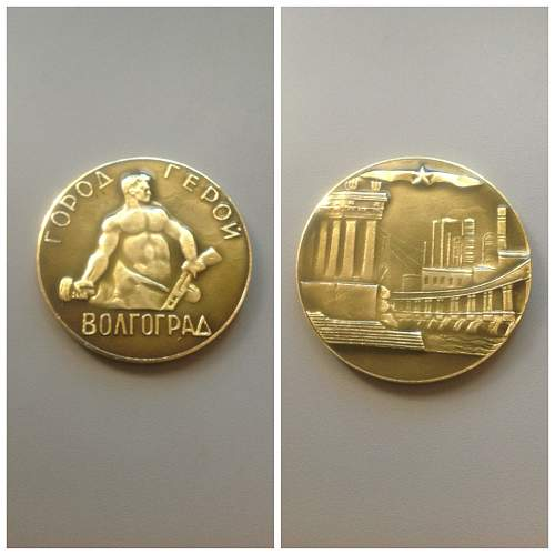 HELP - Info on these medals? - Battle of Stalingrad coin & more.