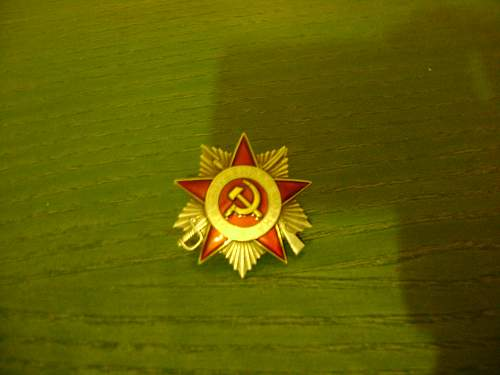Order of the Patriotic War: FAKE OR NOT ??