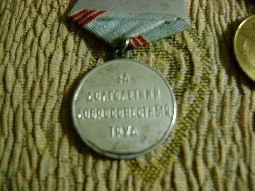Labour medal, Victory over Germany, 100 years Lenin and 40th Jubillee