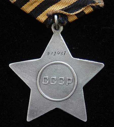 Researched Order of Glory, Third class.