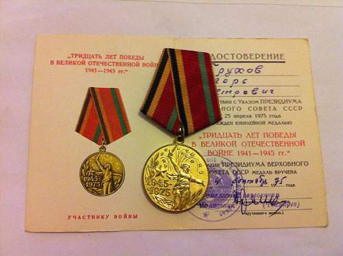 The first steps of my Soviet medal collection!