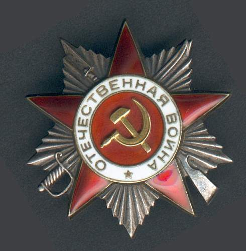 My first Order of the Patriotic War