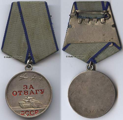 """Help Needed With a """"For Courage"""" medal"""