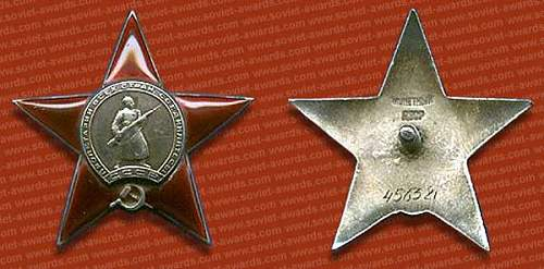 Order of The Red Star & Order of Great Patriotic War
