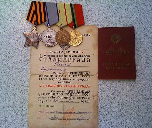 Soviet Medal Group