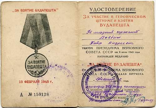 Guards Junior Sergeant Petr Andreevich Dovbysh, 389th Guards Artillery Regiment