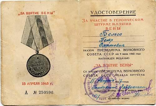Junior Sergeant Pyotr Safonovich Belga