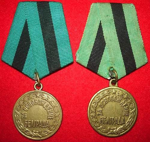 My Liberation medals.