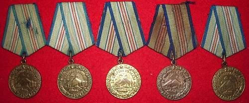 My Defense medals.