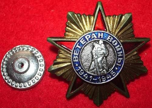 Veteran's Badge, 1941-1945