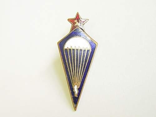 Soviet paratrooper badges