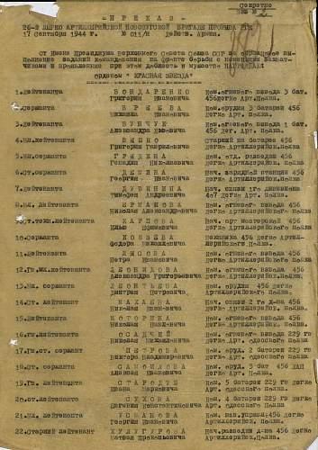 Mikhail Petrovich Chebdaev, 456th Light Artillery Regiment