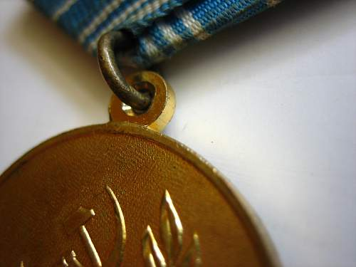 Saving Drowning and Public Order medals for your review