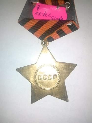 Order of Glory Medal Verification