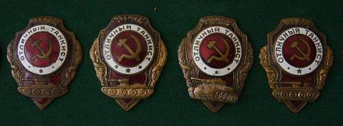Excellent Tankists badge