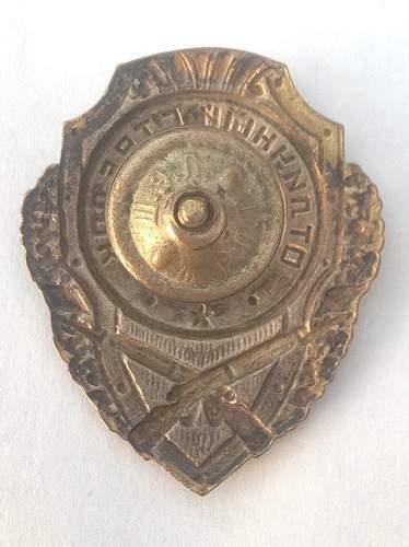 Excellent Riflemans badge