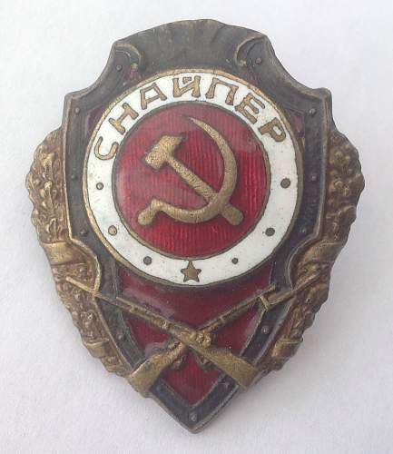 Excellent Snipers badge