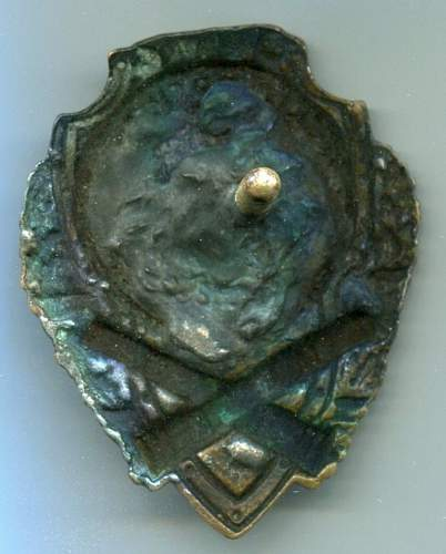 Click image for larger version.  Name:Excellent Artillery Badge reverse.jpg Views:20 Size:107.0 KB ID:600301