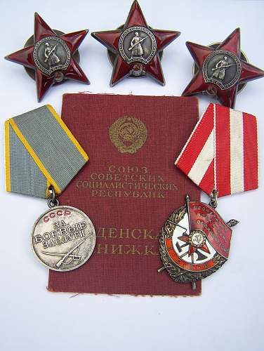 Order of the Red Banner Group to senior Political Officer.