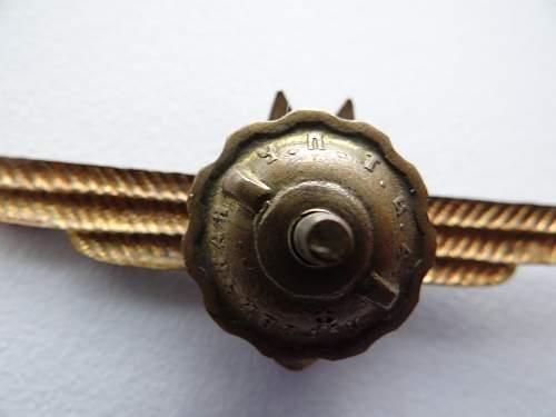 Bombardiers Badge
