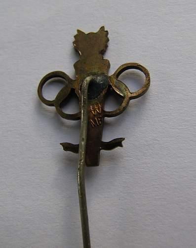 1984 Olympic stick pin