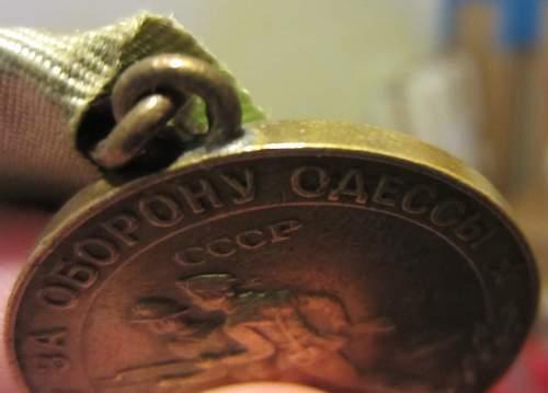 medal For the Defense of Odessa Original or Fake?
