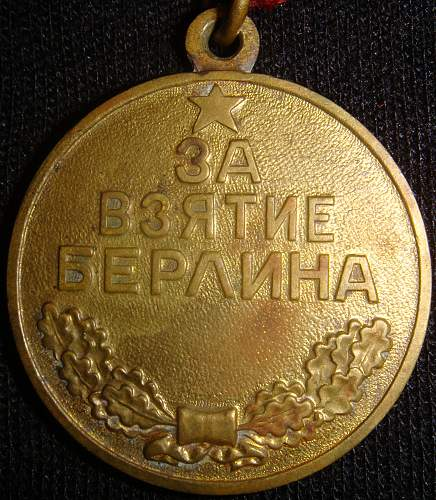 C apture of Berlin medal for revision