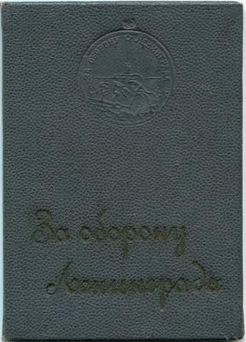 Click image for larger version.  Name:Defense of Leningrad Medal document, in special hard presentation folder, awarded to Captain Lie.jpg Views:11 Size:157.9 KB ID:668803
