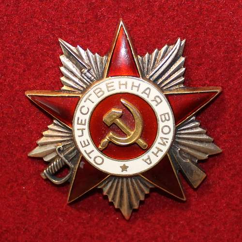 Peculiar Order of the Patriotic War, 2nd class