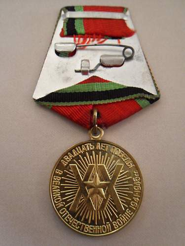 Twenty Years of Victory in the Great Patriotic War 1941-1945 Medal - Share