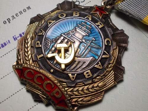 Order of labour glory.3rd class & 2rd class