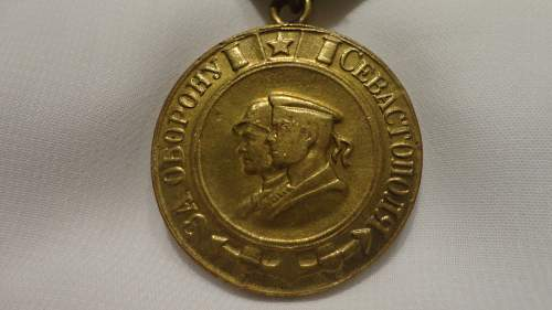 Sebastopol defense medal