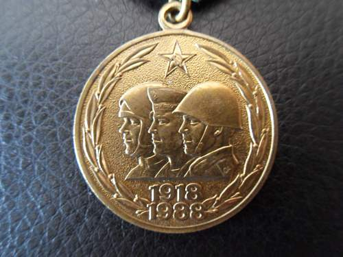 """Jubilee Medal """"70 Years of the Armed Forces of the USSR - Share"""