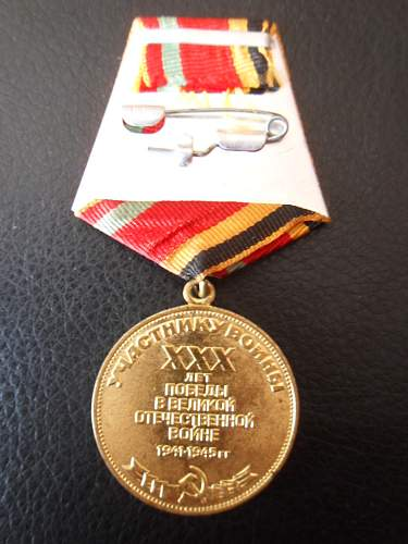 """Jubilee Medal """"Thirty Years of Victory in the Great Patriotic War 1941-1945 - Share"""