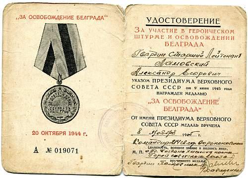 Click image for larger version.  Name:Aleksandr Yegorovich Lamovsky, Liberation of Belgrade.jpg Views:46 Size:334.4 KB ID:702931