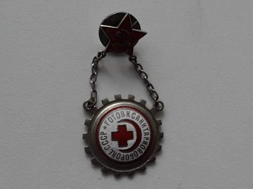 Soviet union badges.