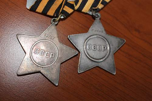 Double Glory USSR WWII  medals Please help to verify