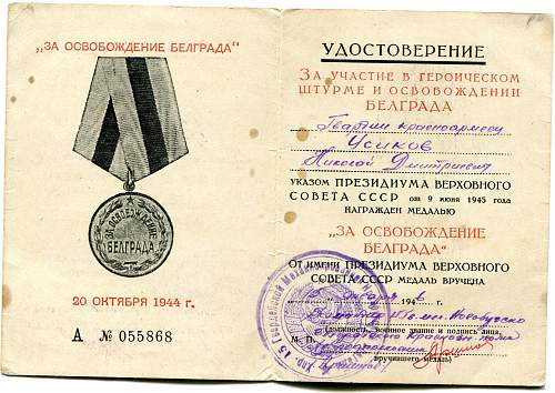 Click image for larger version.  Name:Nikolai Dmitrievich Usikov, Liberation of Belgrade.jpg Views:34 Size:332.2 KB ID:726470