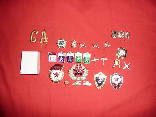 my small collection of soviet medals and orders