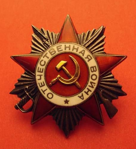 Soviet Order of the Patriotic War, 2nd class