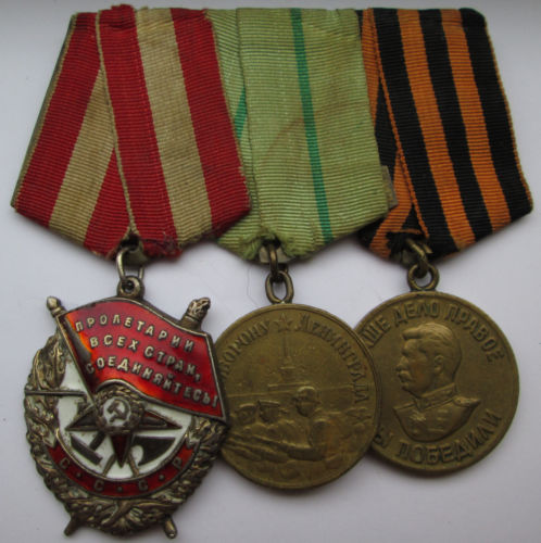 Order of the Red Banner for Narva.